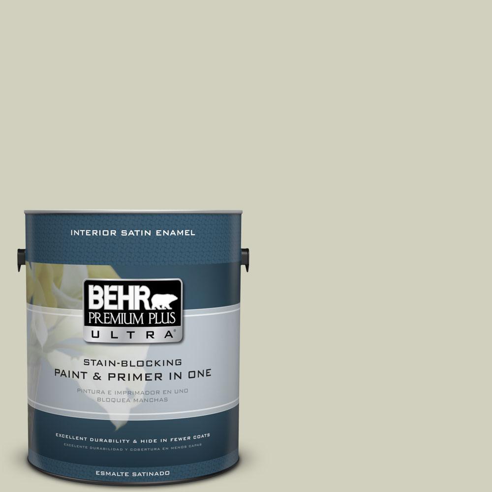 BEHR Premium Plus Ultra 1-gal. #400E-3 Mountain Haze Satin Enamel Interior Paint