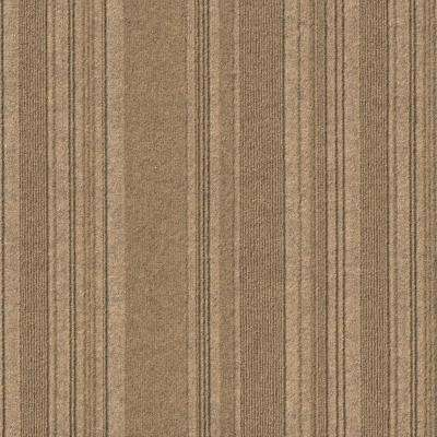 Premium Self-Stick First Impressions Barcode Rib Chestnut Texture 24 in. x 24 in. Carpet Tile (15 Tiles/60 sq. ft./case)