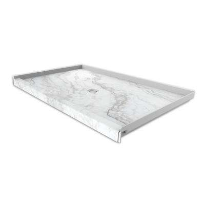 60 in. x 36 in. Single Threshold Shower Base with Center Drain in Calypso