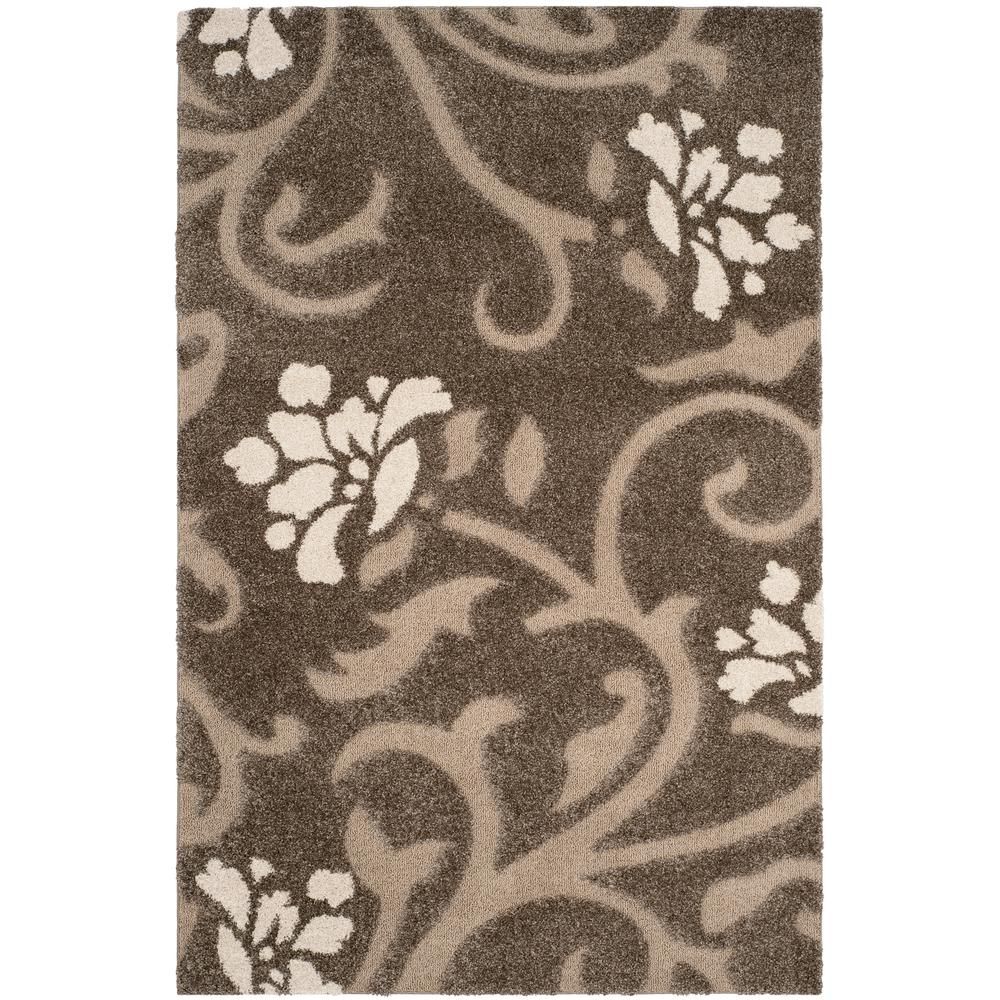 ccd934c55bb Safavieh Florida Shag Smoke Beige 8 ft. x 10 ft. Area Rug-SG464-7913 ...
