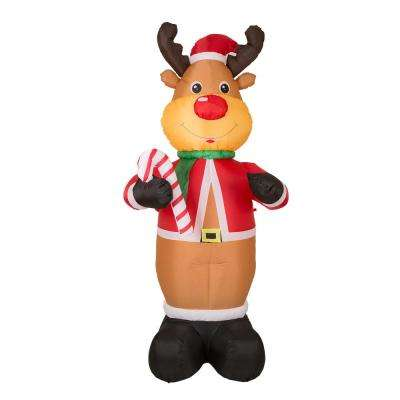 8 ft. Lighted Inflatable Reindeer Decor
