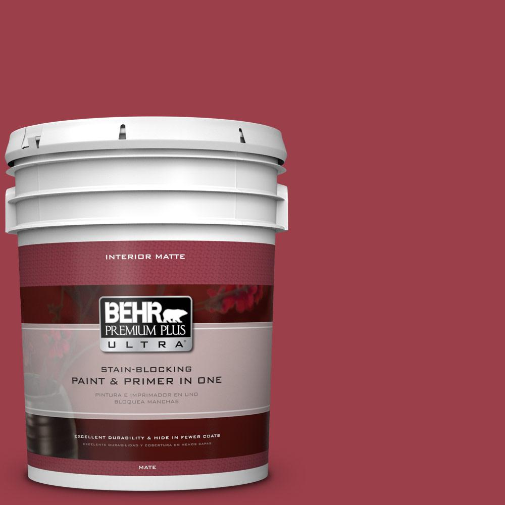 BEHR Premium Plus Ultra Home Decorators Collection 5 gal. #HDC-CL-01 Timeless Ruby Flat/Matte Interior Paint
