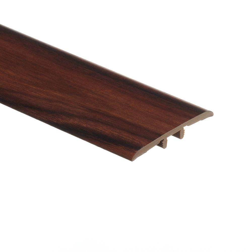 Zamma African Wood Dark 1/8 in. Thick x 1-3/4 in. Wide x 72 in. Length Vinyl Multi-Purpose Reducer