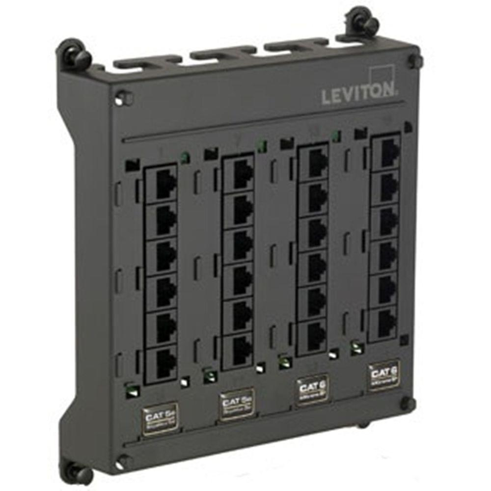Leviton Structured Media Twist And Mount Patch Panel With 12 Cat 5e Wiring Commercial Ports