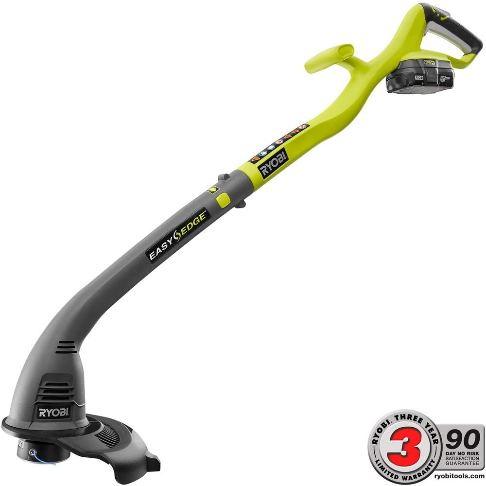 Ryobi ONE+ 18-Volt Lithium-Ion Electric Cordless String Trimmer and Edger - 1.3 Ah Battery and Charger Included