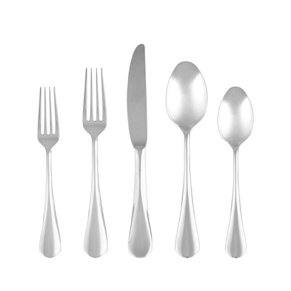 Cambridge Eloquence Mirror 18 10 Stainless Steel 20 Piece Flatware Set Service For 4 126020cblgm12ds The Home Depot