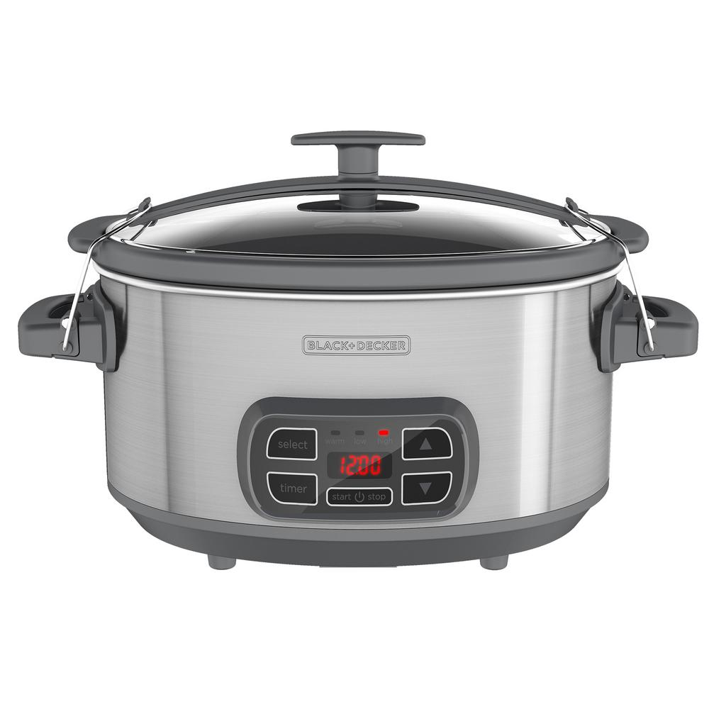 7 Qt. Digital and Programmable Slow Cooker with Locking Lid in