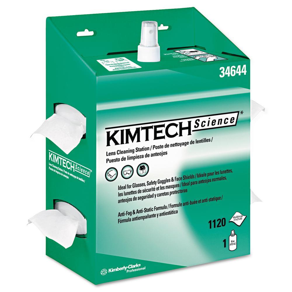KIMWIPES Lens Cleaning, 16 oz. Spray, 1120 Wipes/Box, 4/Carton