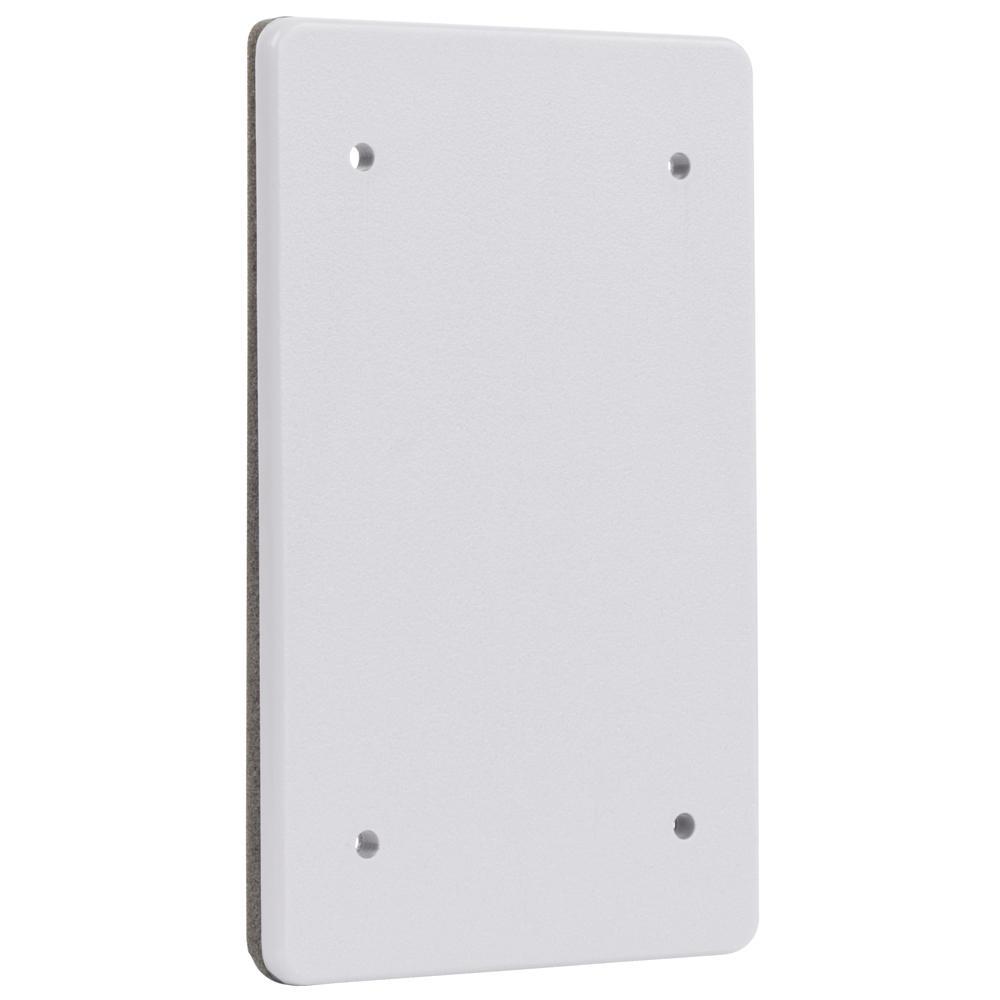 White 1-Gang Non-Metallic Weatherproof Blank Cover