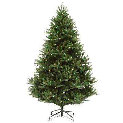 7.5 ft. Pre-Lit LED WRGB Majestic Fir Outdoor Artificial Christmas Tree