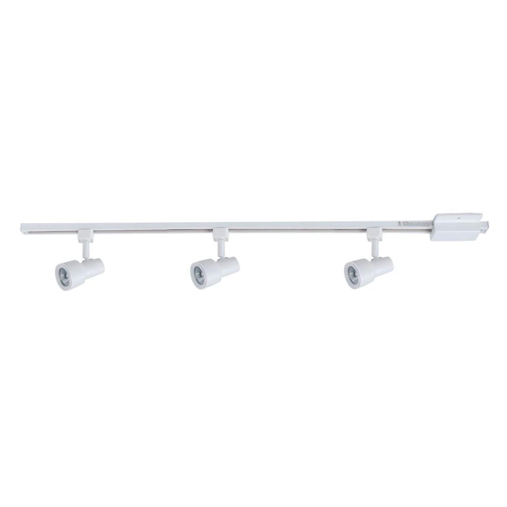 3 Light Matte White Mini Gu10 Halogen Step Head Linear
