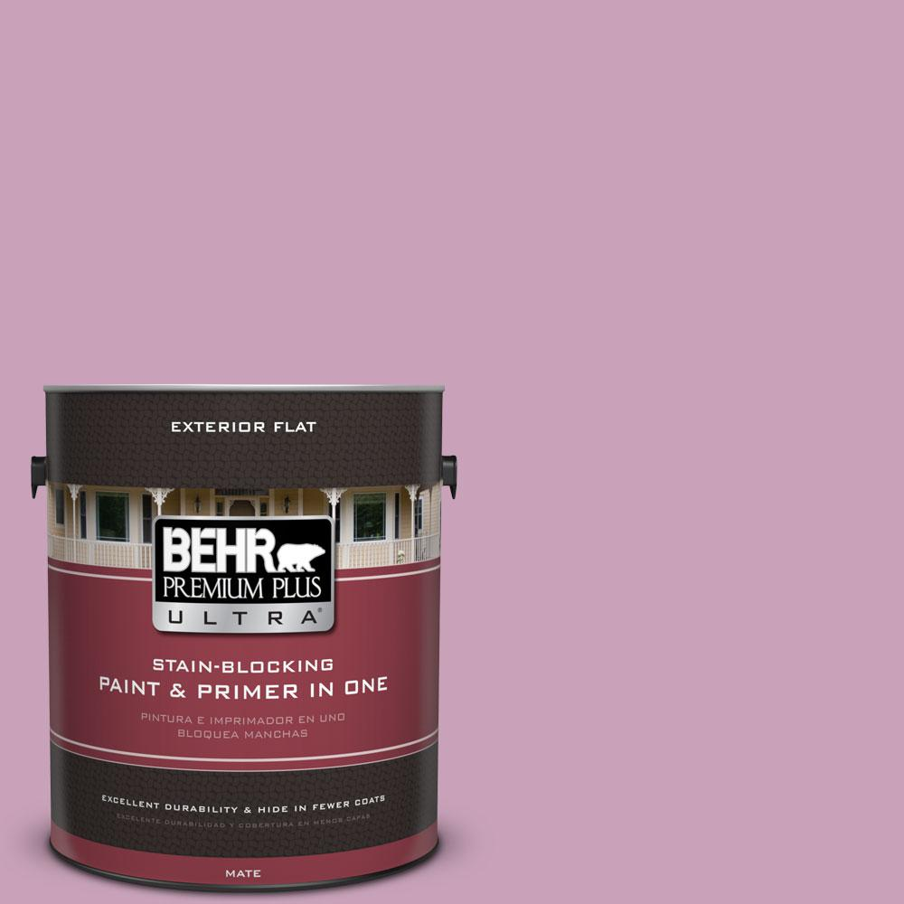 BEHR Premium Plus Ultra 1-gal. #690D-4 Taste of Berry Flat Exterior Paint