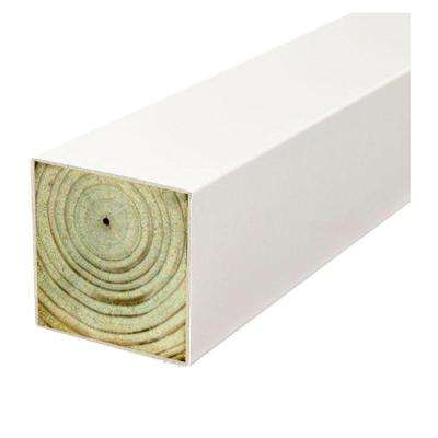 4 in. x 4 in. x 10 ft. #2 Doug Fir Polymer Coated White Multi-Purpose Pressure-Treated Timber Post