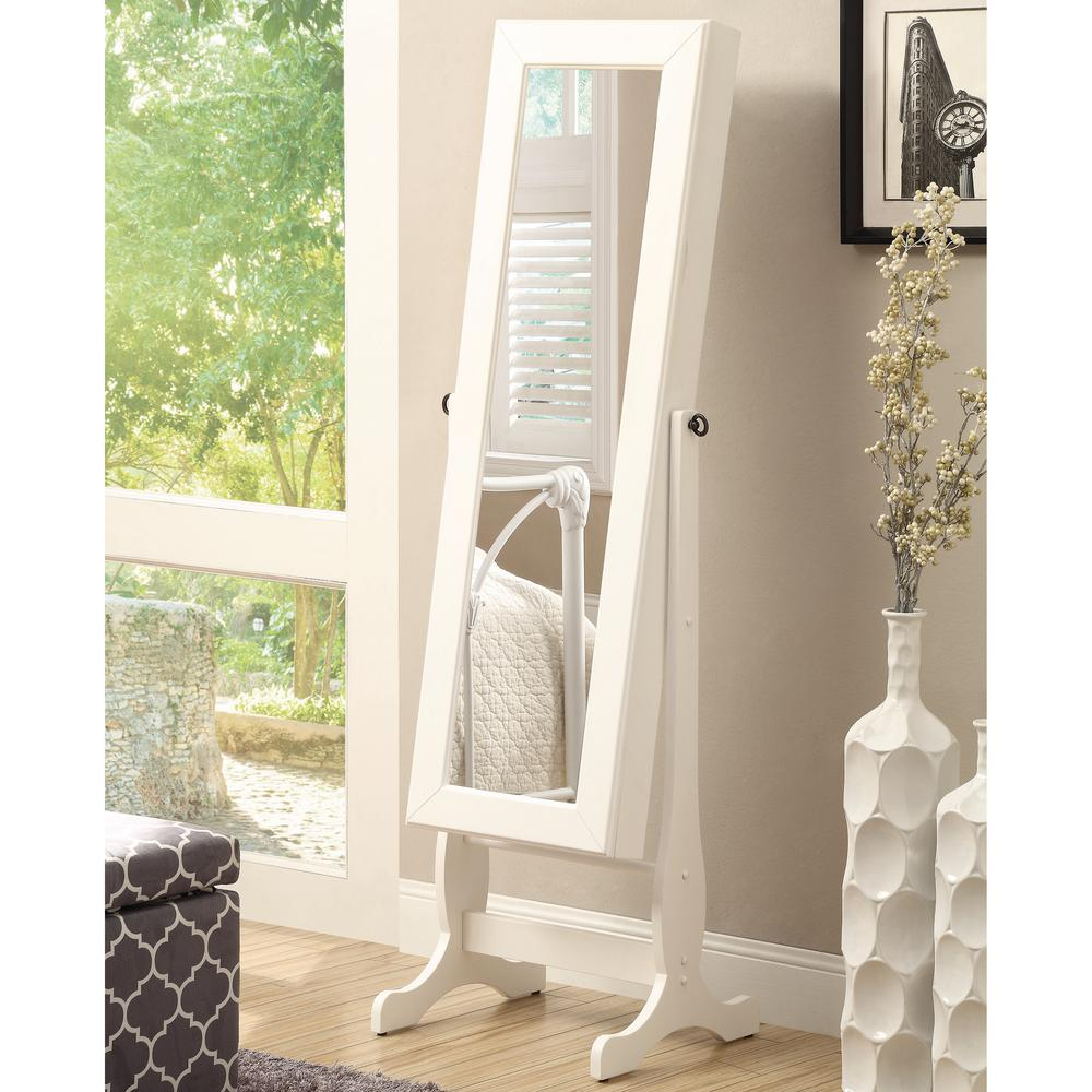 Ava White Jewelry Armoire