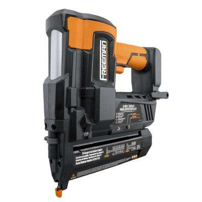 Cordless 20-Volt 2-in-1 18-Gauge 2 in. Nailer and Stapler with Batteries, Case, and Fasteners