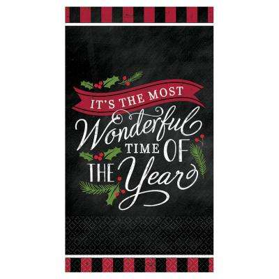 Most Wonderful Time 3 in. x 3.75 in. Paper Christmas 9 oz. Cups (18-Count, 3-Pack)