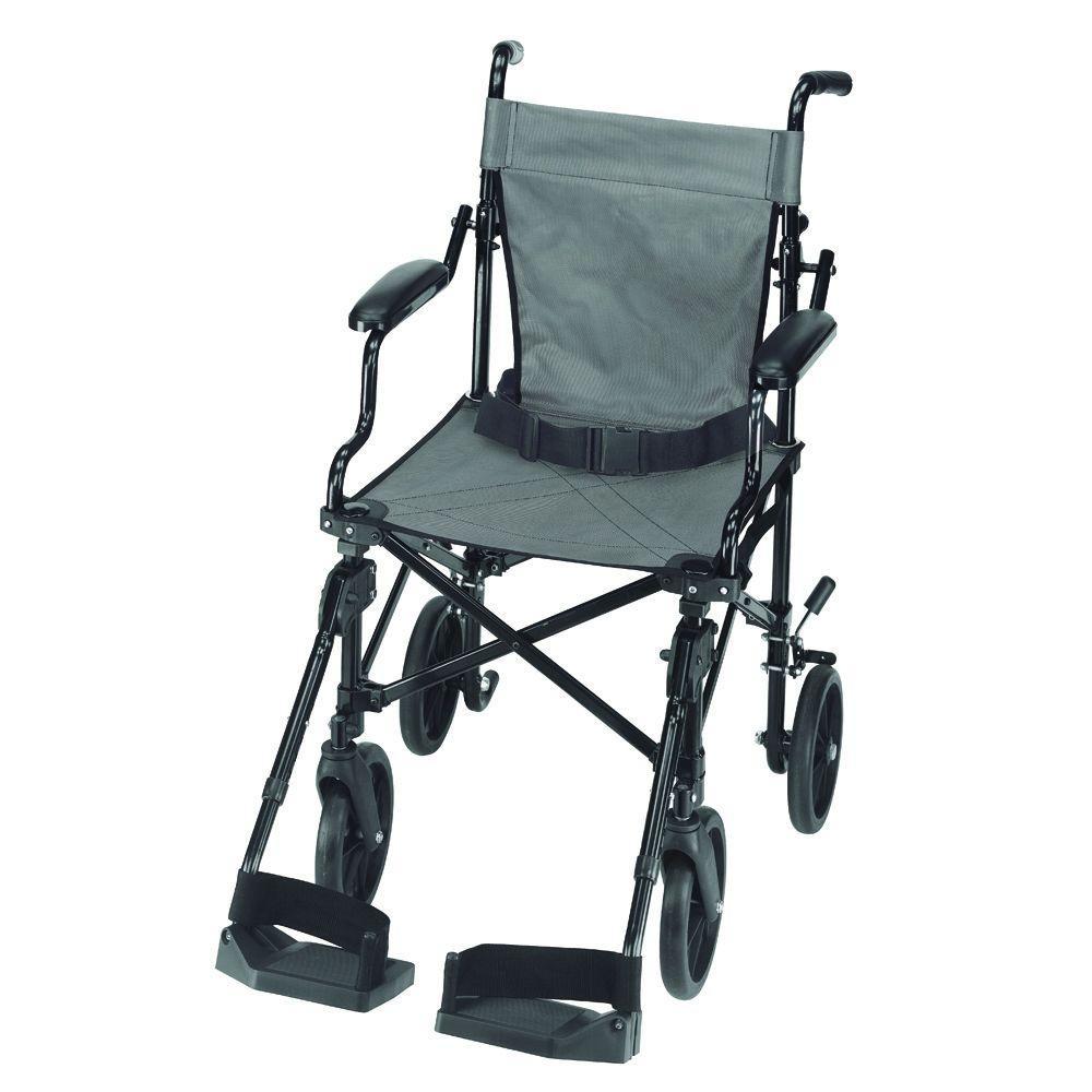 Folding Lightweight Transport Chair in Aluminum