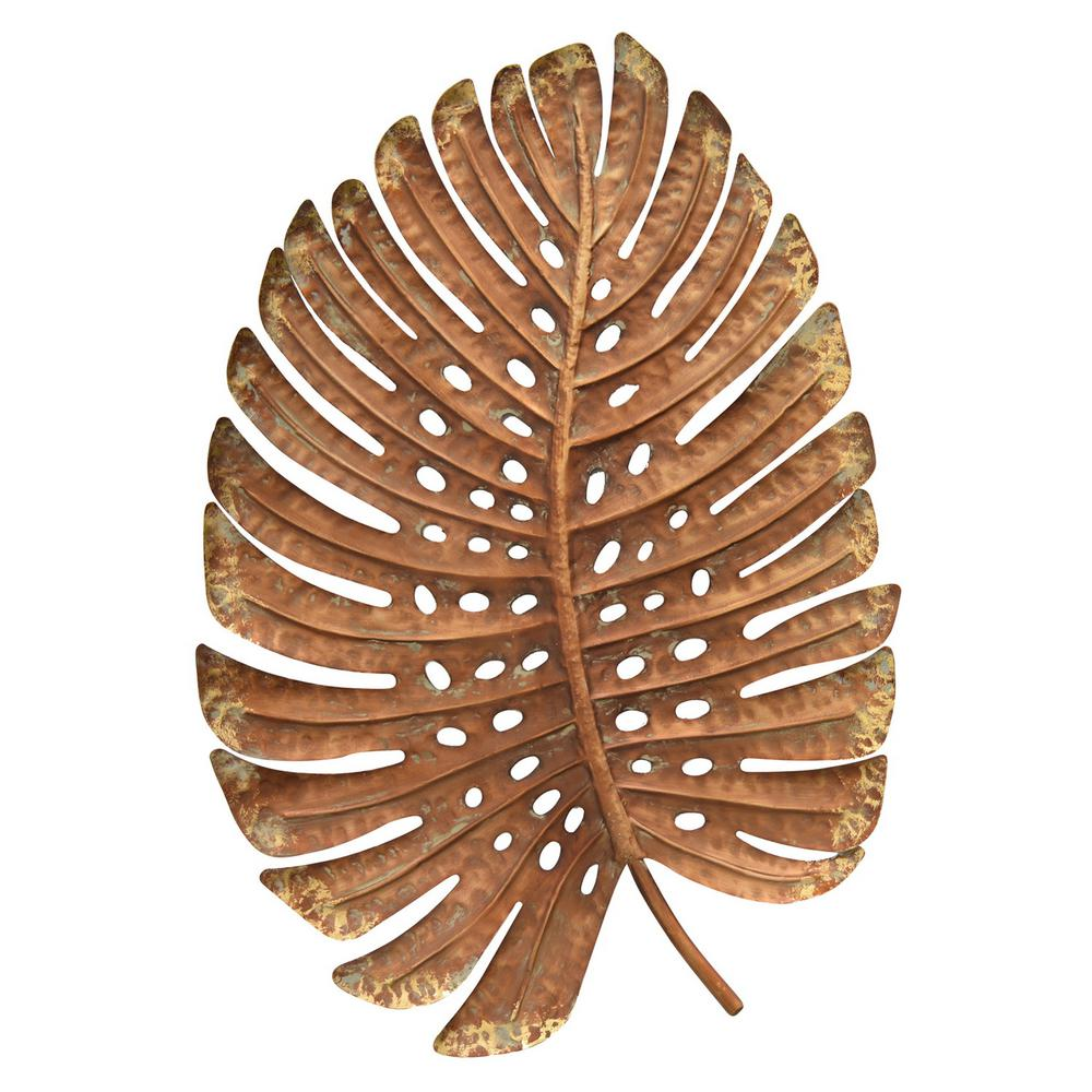 awesome Metal Leaves Wall Decor Part - 2: Gold Metal Leaf Wall Decor