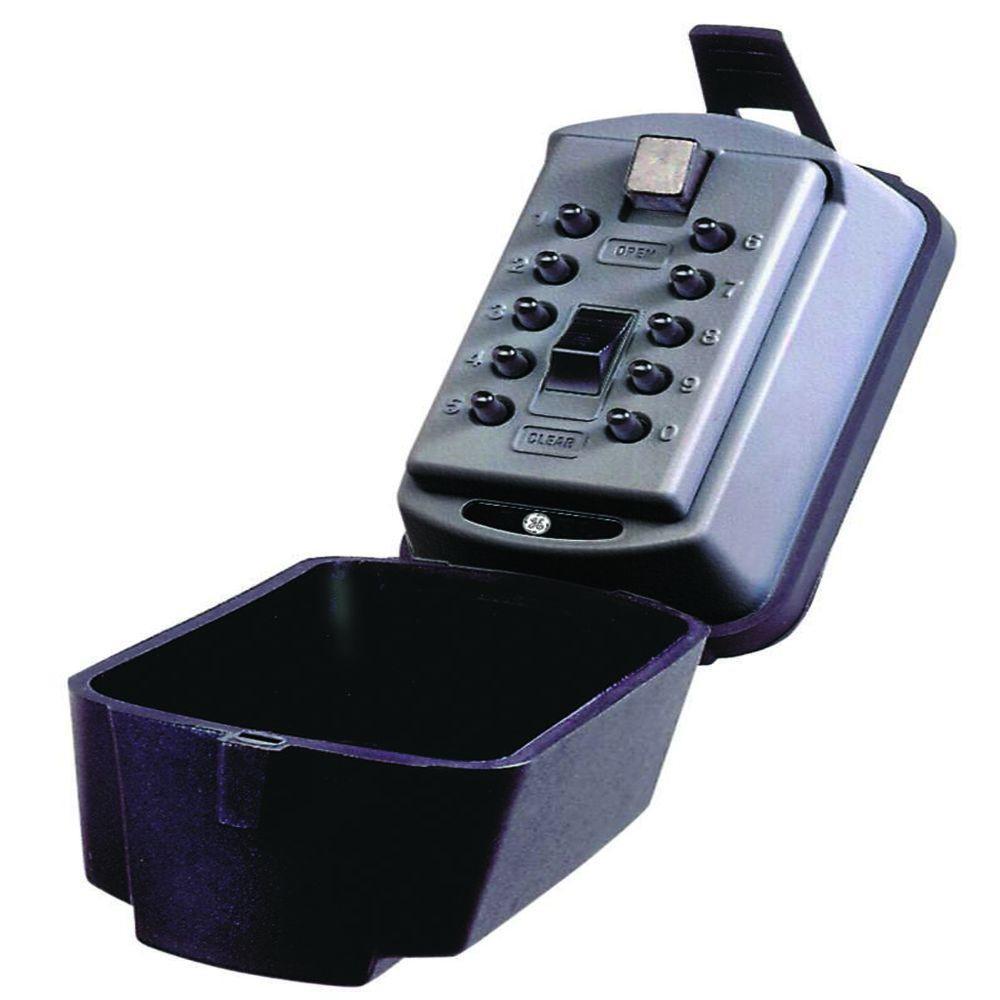 Auto Permanent Mount Box with Pushbutton Combination Lock, Titanium