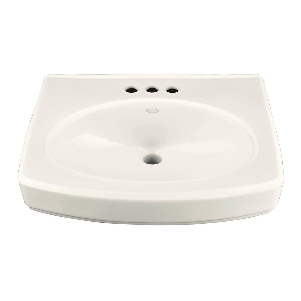 KOHLER Pinoir 4 in. Pedestal Sink Basin in Biscuit