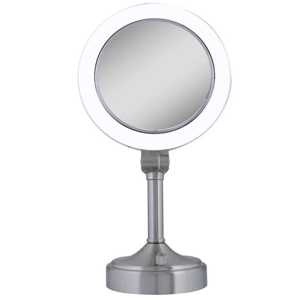 Zadro Surround Light 10x 1x Vanity Mirror In Satin Nickel