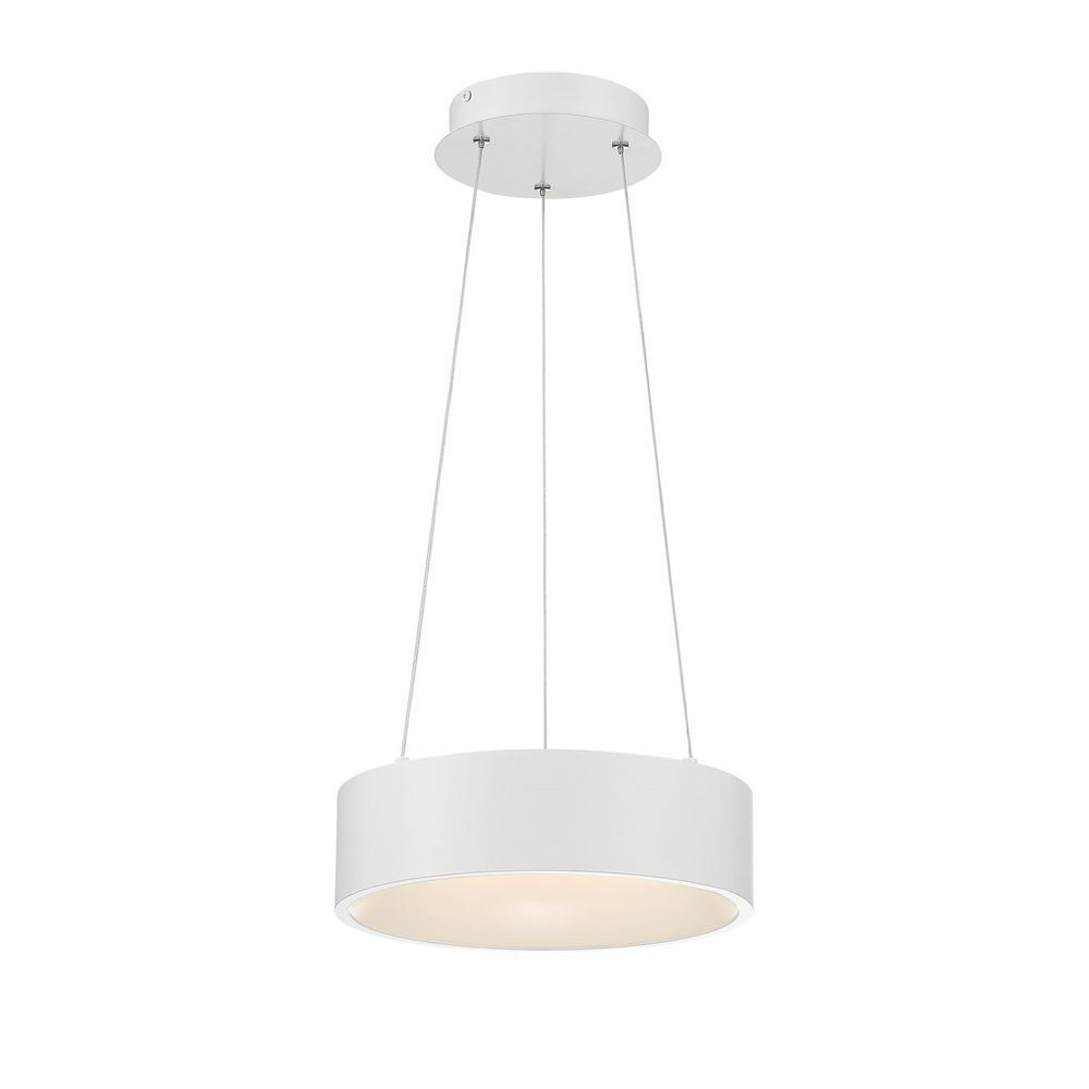 Home Decorators Collection Hollandale 75-Watt Equivalence Integrated LED White Pendant