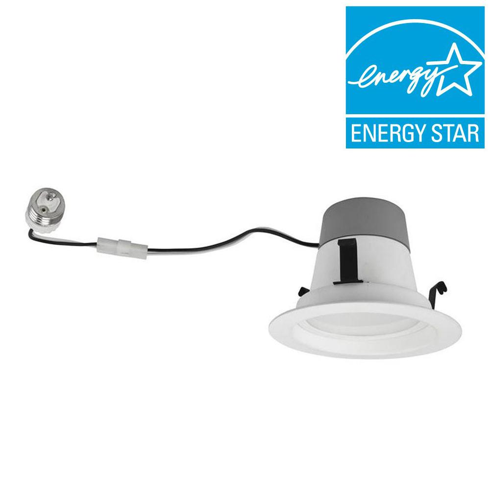 TCP 50W Equivalent Soft White (2700K) 4 in. Dimmable LED Retrofit Downlight