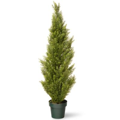 Artificial Arborvitae Tree in Dark Green Round Growers Pot  sc 1 st  Home Depot & Artificial Plants \u0026 Flowers - Home Decor - The Home Depot