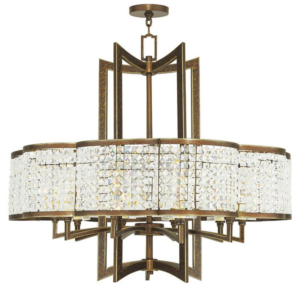 Grammercy 10-Light Palacial Bronze Chandelier