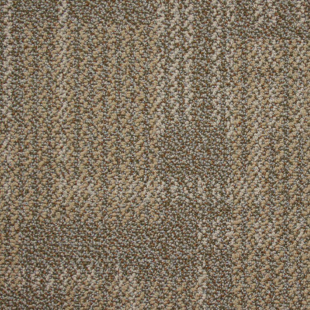 Carnegie Deep Ochre Loop 19.7 in. x 19.7 in. Carpet Tile