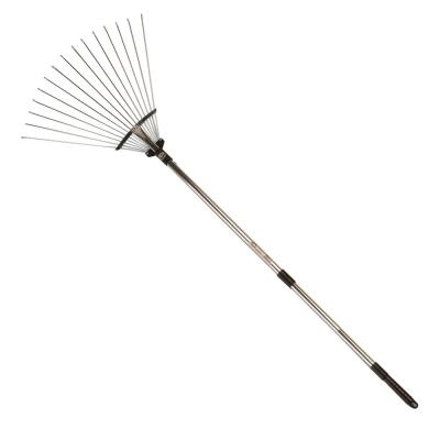 34 in. to 70 in. Steel Head Telescopic Adjustable Fan Rake