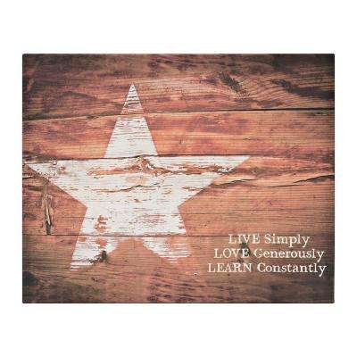 "Simply Inspired ""Live Simply"" by Carpentree Printed Canvas Wall Art"