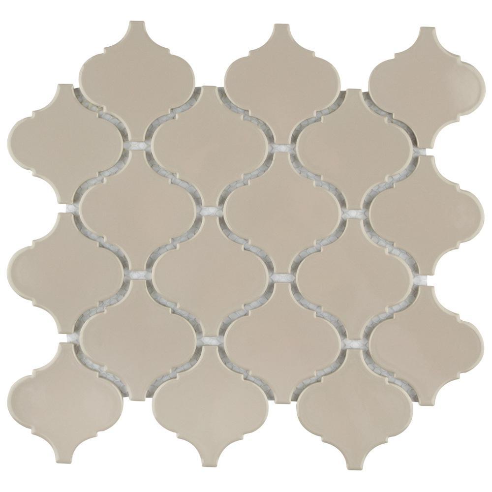 - Merola Tile Metro Lantern Glossy Taupe Grey 9-3/4 In. X 10-1/4 In