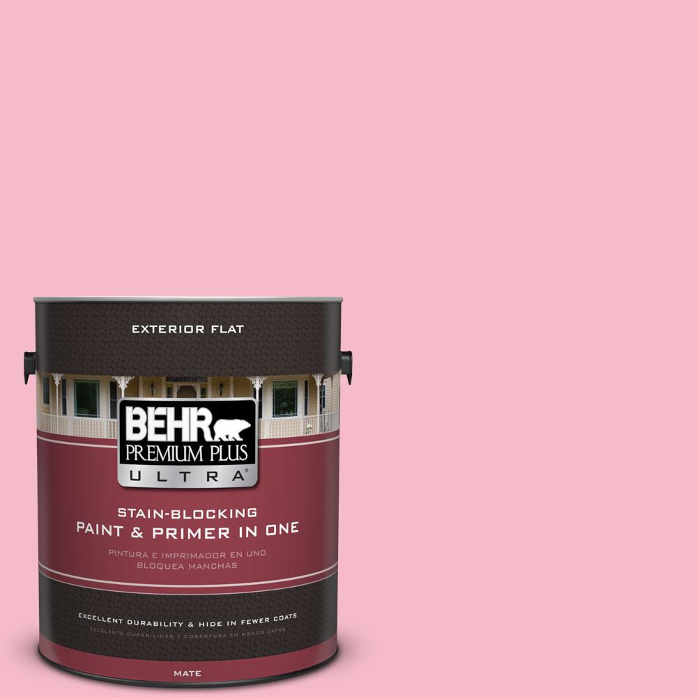 1-gal. #120C-2 Pink Punch Flat Exterior Paint