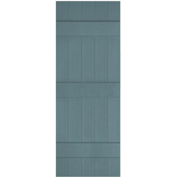 Ekena Millwork 17 1 2 In X 83 In Lifetime Vinyl Custom Five Board Joined Board And Batten Shutters Pair Wedgewood Blue Lj5c17x08300wb The Home Depot