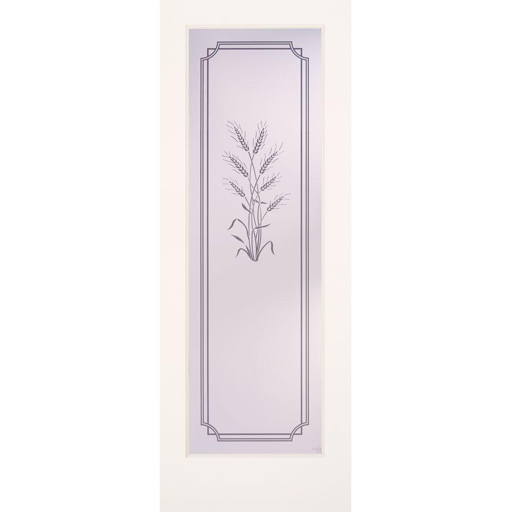Feather River Doors 32 in. x 80 in. 1 Lite Harvest Smooth Primed MDF Interior Door Slab