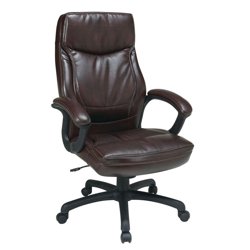 Mocha Eco Leather High Back Executive Office Chair