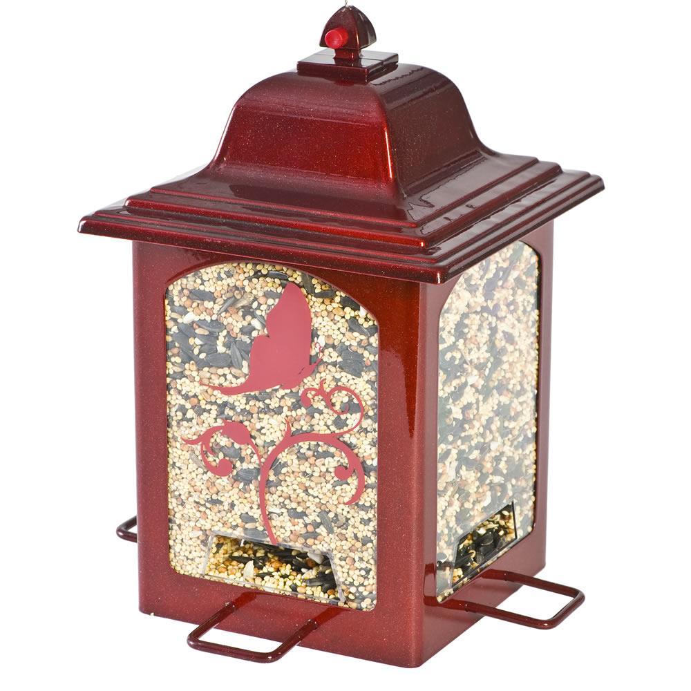 Red Sparkle Lantern Hanging Bird Feeder - 3 lb. Capacity