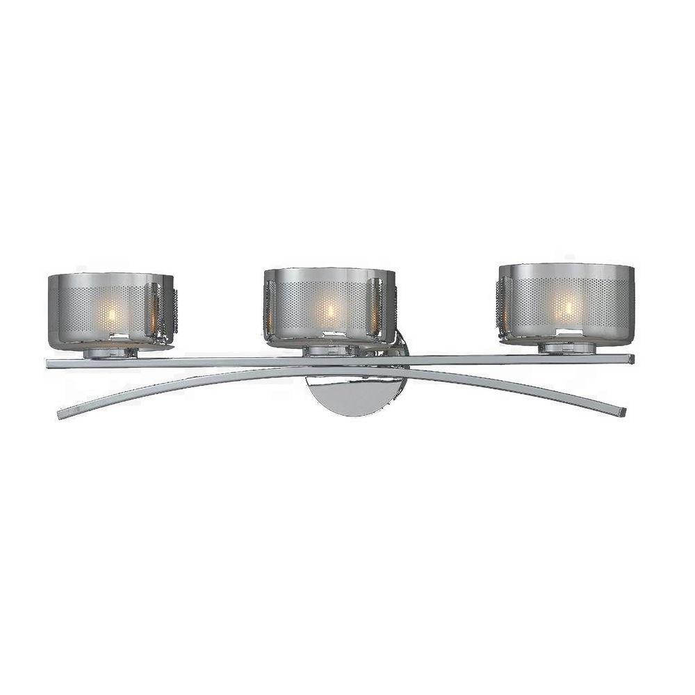 Itala 3-Light Chrome Bath Vanity Light