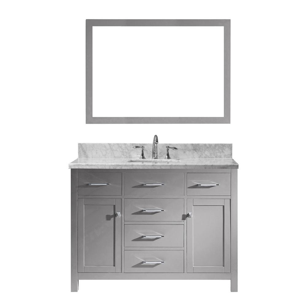 Caroline 49 in. W Bath Vanity in Cashmere Gray with Marble