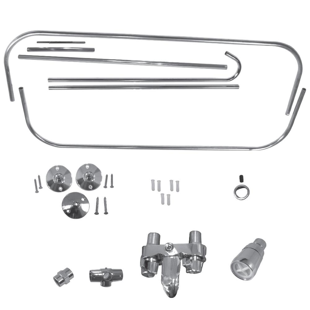 Danco Add A Shower Kit For Claw Foot Tub In Chrome