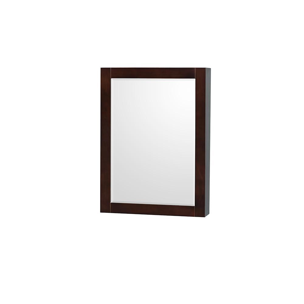 Sheffield 24 in. W x 33 in. H Framed Rectangular Bathroom Vanity Mirror in Espresso