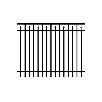 5 ft. H x 6 ft. W Adams Black Aluminum Fence Panel