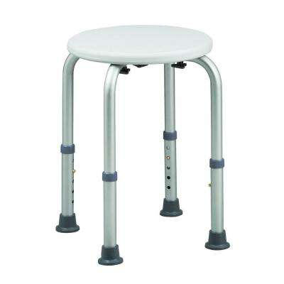 BactiX 12-1/2 in. D x 12-1/2 in. W Aluminum Adjustable Shower Seat in White