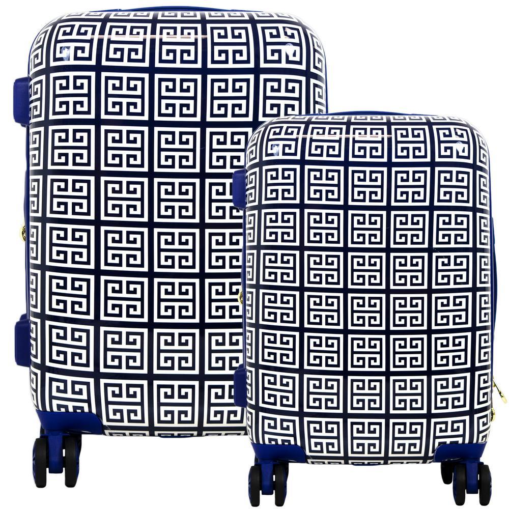 Geo Print Hard Sided 2-Piece Luggage Set