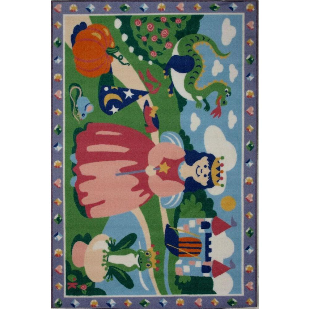 LA Rug Olive Kids Happily Ever After Multi Colored 19 in. x 29 in. Accent Rug