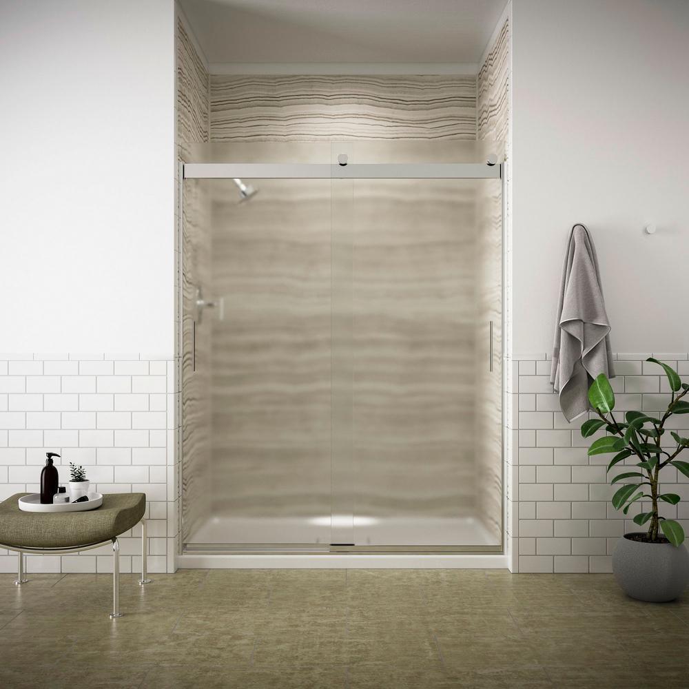 Kohler Levity 59 In X 74 In Semi Frameless Sliding Shower Door In