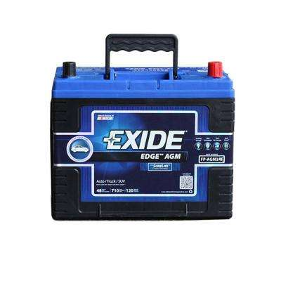 Edge 12 volts Lead Acid 6-Cell 24F Group Size 710 Cold Cranking Amps (BCI) Auto AGM Battery
