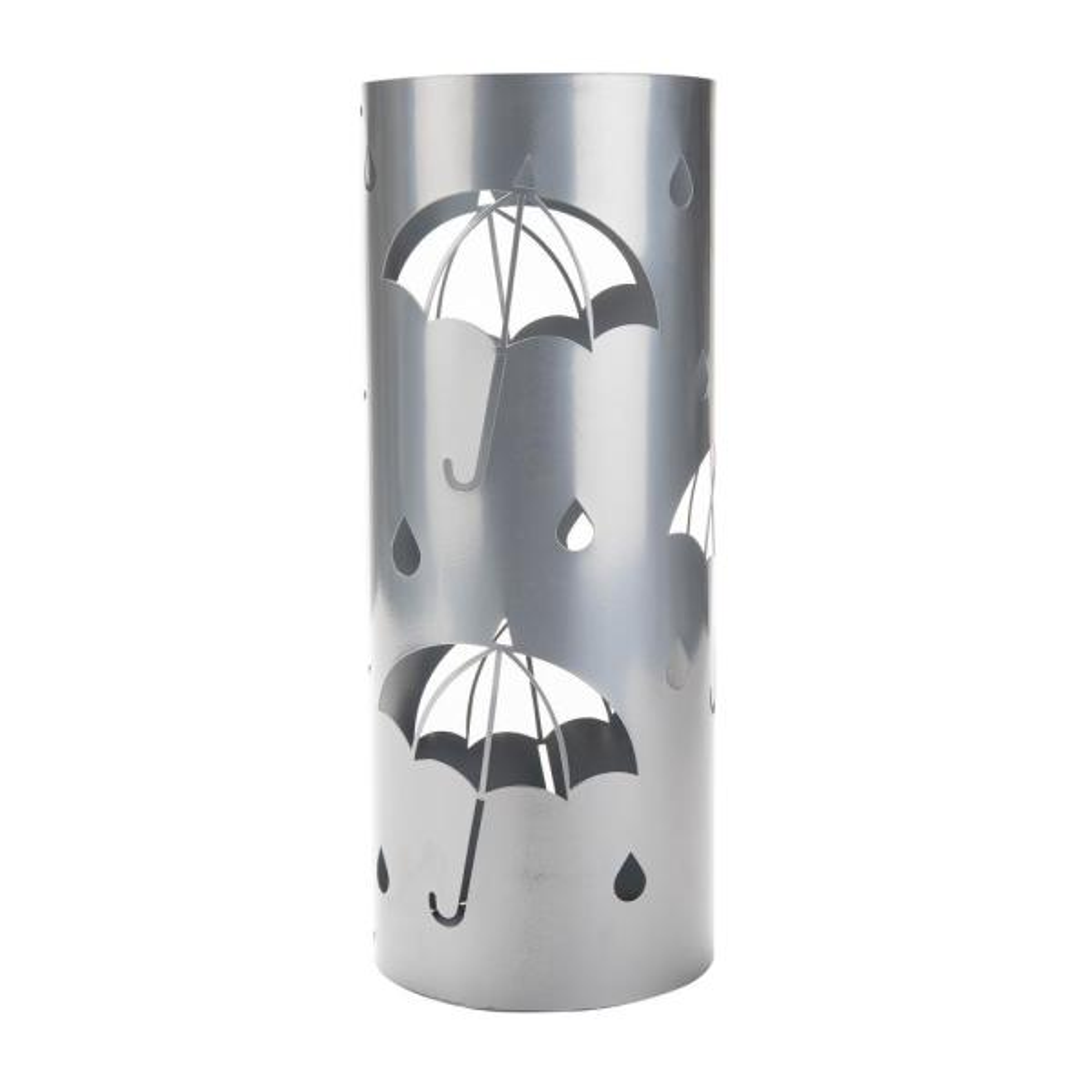 Silver Metal Umbrella Holder Stand