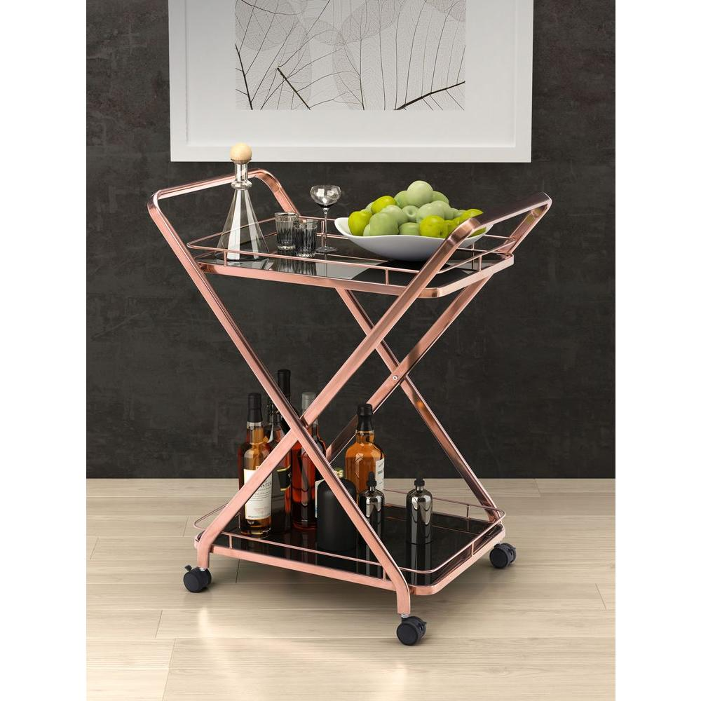 ZUO Vesuvius Stainless Steel Serving Cart